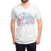 The Great Kawaii Wave - vneck - small view
