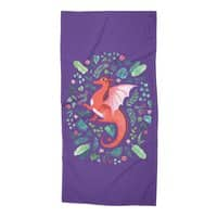 Tropical Dragon - beach-towel - small view