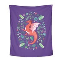 Tropical Dragon - indoor-wall-tapestry-vertical - small view