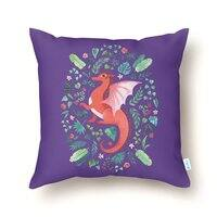Tropical Dragon - throw-pillow - small view