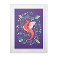 Tropical Dragon - white-vertical-framed-print - small view
