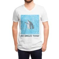 No Smiles Today - vneck - small view
