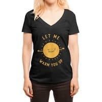 Let Me Warm You Up - womens-deep-v-neck - small view