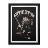 Catmetal - black-vertical-framed-print - small view