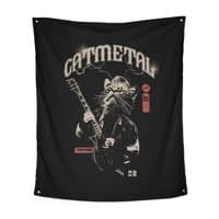 Catmetal - indoor-wall-tapestry-vertical - small view