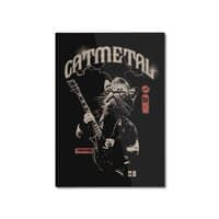 Catmetal - vertical-mounted-aluminum-print - small view