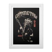 Catmetal - white-vertical-framed-print - small view