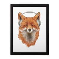 The Musical Fox - black-vertical-framed-print - small view