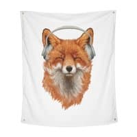 The Musical Fox - indoor-wall-tapestry-vertical - small view