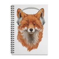 The Musical Fox - spiral-notebook - small view