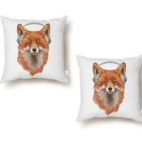 The Musical Fox - throw-pillow - small view