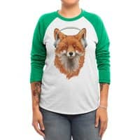 The Musical Fox - triblend-34-sleeve-raglan-tee - small view