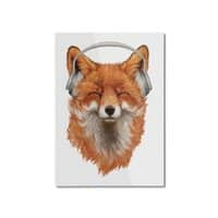 The Musical Fox - vertical-mounted-aluminum-print - small view
