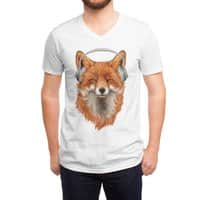 The Musical Fox - vneck - small view