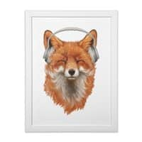 The Musical Fox - white-vertical-framed-print - small view
