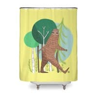 Big Foot, Big Heart - shower-curtain - small view