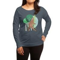Big Foot, Big Heart - womens-long-sleeve-terry-scoop - small view