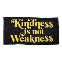 Kindness is not Weakness - beach-towel-landscape - small view