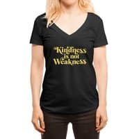 Kindness is not Weakness - womens-deep-v-neck - small view