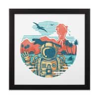 WRONG VACATION - black-square-framed-print - small view