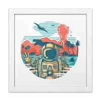 WRONG VACATION - white-square-framed-print - small view