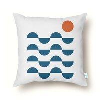 Regular Waves - throw-pillow - small view