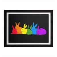 love is for everybunny - black-horizontal-framed-print - small view