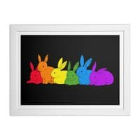 love is for everybunny - white-horizontal-framed-print - small view