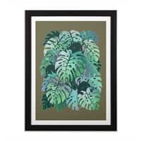 Monstera Monsters - black-vertical-framed-print - small view