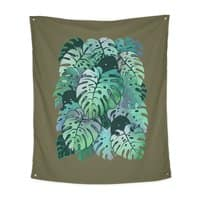 Monstera Monsters - indoor-wall-tapestry-vertical - small view