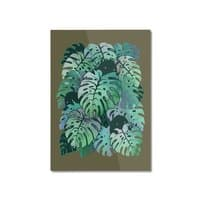 Monstera Monsters - vertical-mounted-aluminum-print - small view