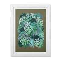Monstera Monsters - white-vertical-framed-print - small view