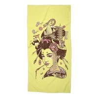 There's a dragon on Mount Fuji - beach-towel - small view