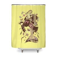 There's a dragon on Mount Fuji - shower-curtain - small view