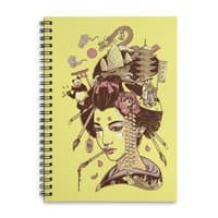 There's a dragon on Mount Fuji - spiral-notebook - small view