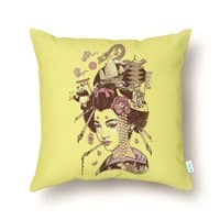There's a dragon on Mount Fuji - throw-pillow - small view