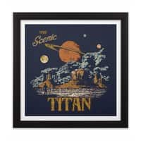Visit Scenic Titan - black-square-framed-print - small view