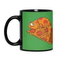 Pizza Chameleon - black-mug - small view