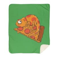Pizza Chameleon - blanket - small view