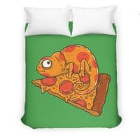 Pizza Chameleon - duvet-cover - small view