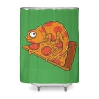 Pizza Chameleon - shower-curtain - small view