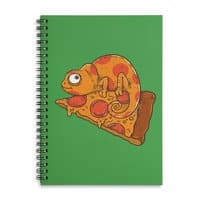 Pizza Chameleon - spiral-notebook - small view