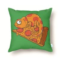 Pizza Chameleon - throw-pillow - small view
