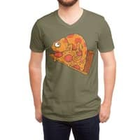 Pizza Chameleon - vneck - small view