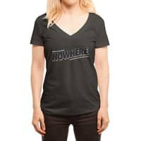 Greetings from Nowhere - womens-deep-v-neck - small view