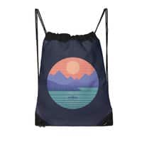 Peaceful Reflection - drawstring-bag - small view
