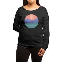 Peaceful Reflection - womens-long-sleeve-terry-scoop - small view