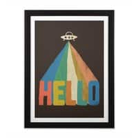 HELLO - black-vertical-framed-print - small view