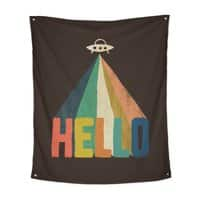 HELLO - indoor-wall-tapestry-vertical - small view