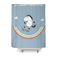 Rainbow Skate - shower-curtain - small view